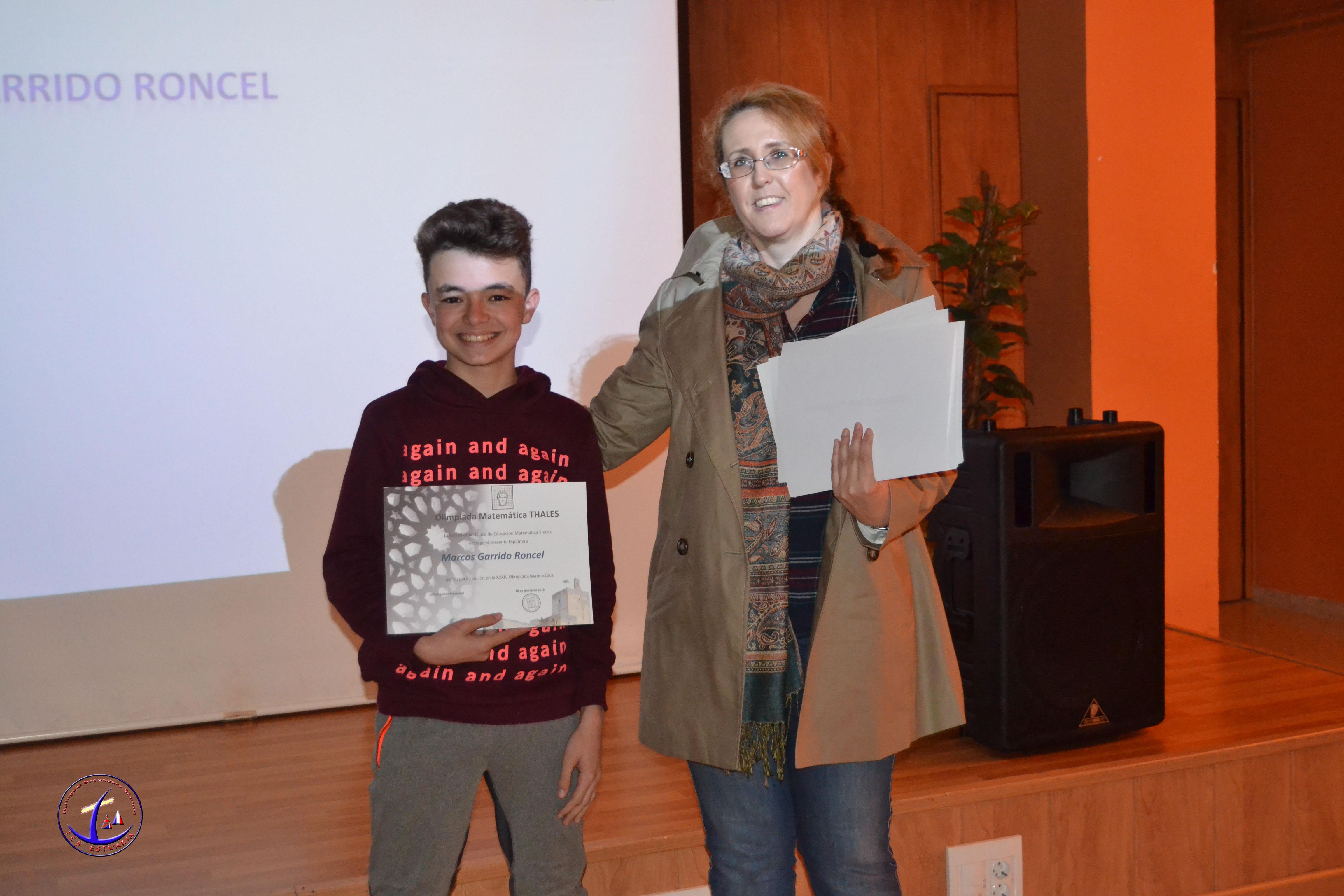 Entrega de diplomas de la XXXIV Olimpiadas Matemáticas