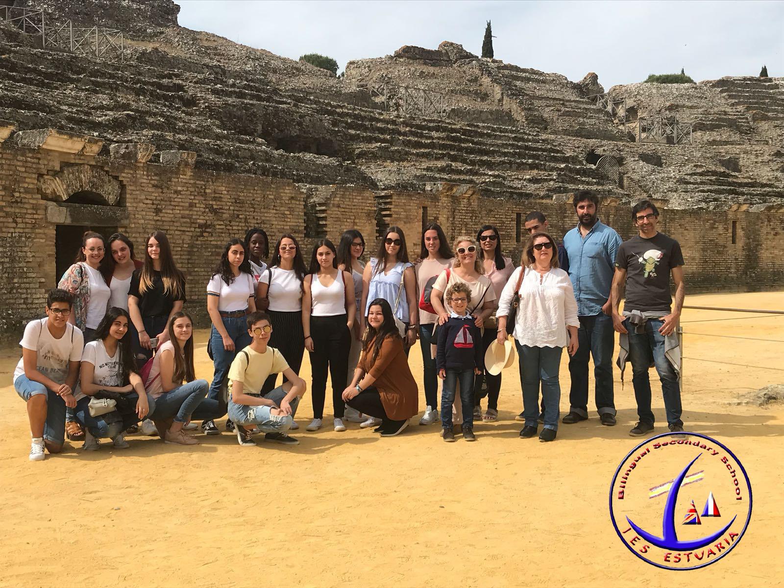 Visita a Itálica del alumnado de Latín