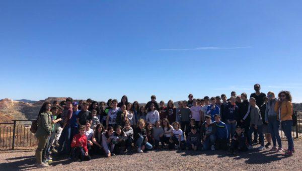 Visita a Minas de Riotinto de 1º de ESO con Caroline Hendricks