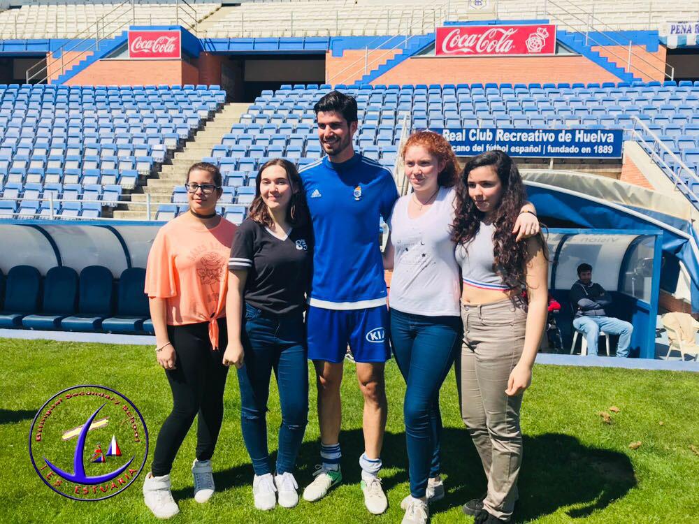 Visita a un entrenamiento del Recreativo de Huelva en el Nuevo Estadio Colombino