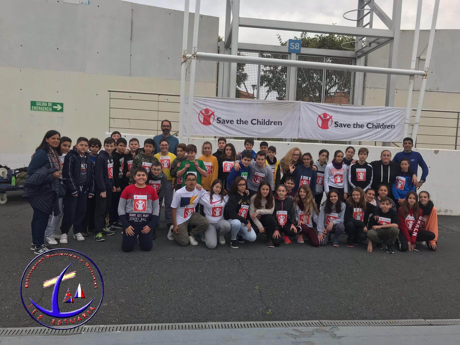 Carrera Solidaria, en colaboración con las ONG «Save The Children» y el «Banco de Alimentos de Huelva-UNICEF»