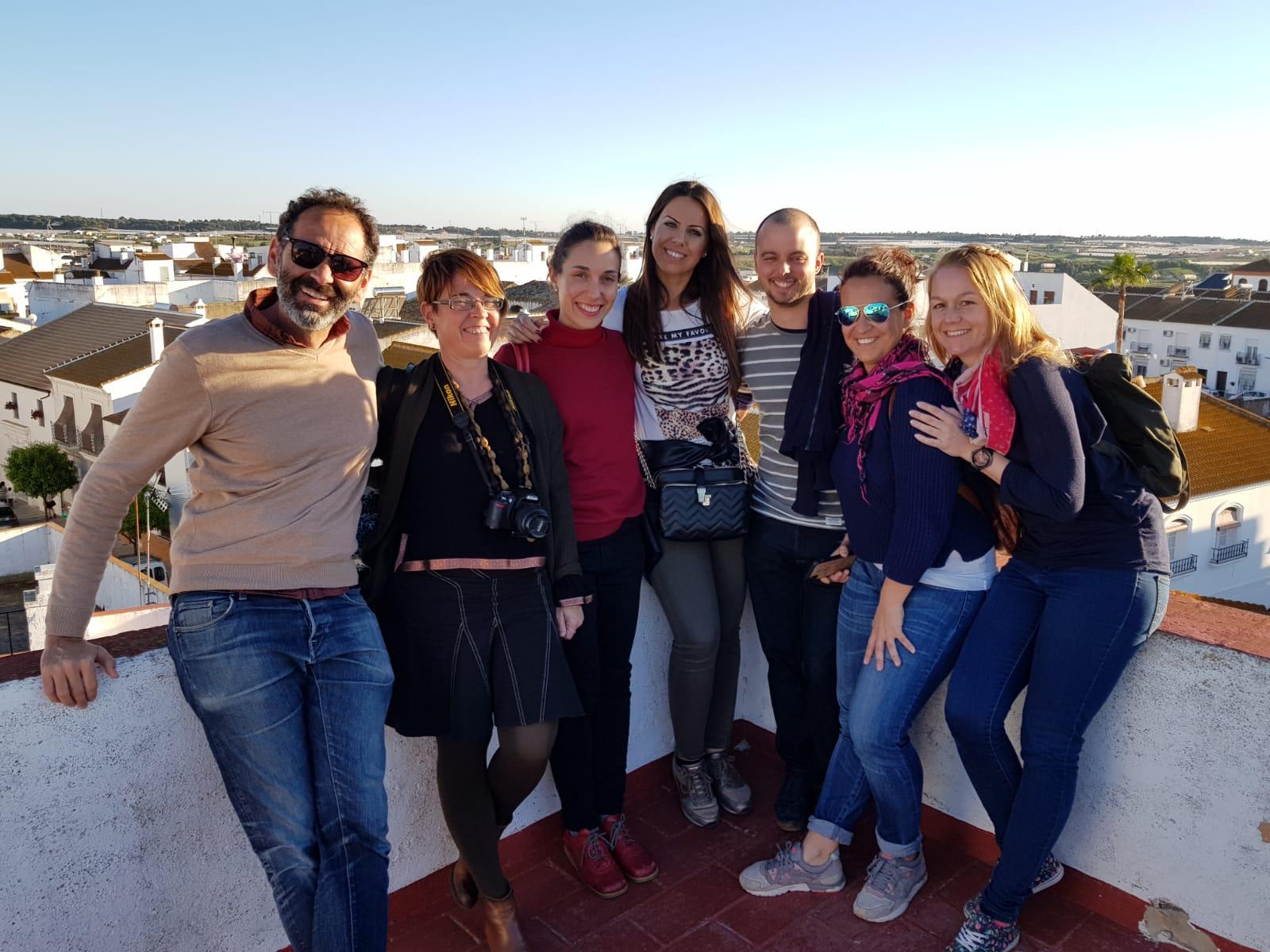 Visita a Moguer con Caroline Hendricks